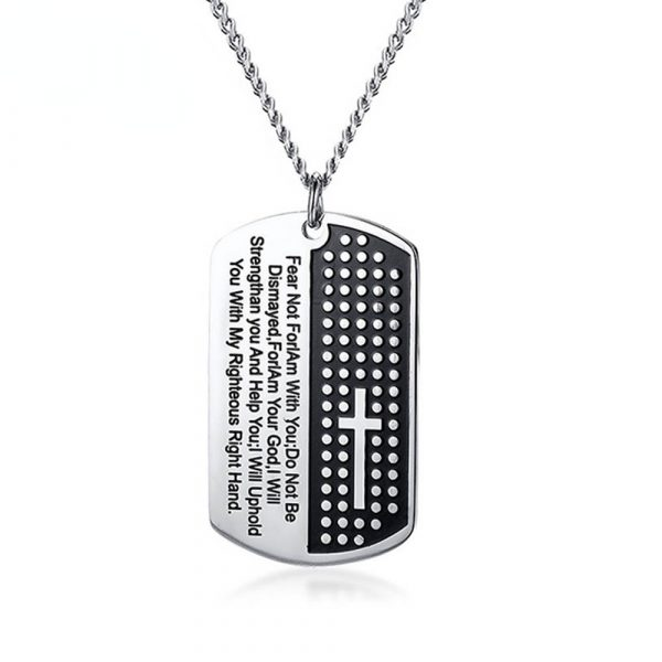 Bible Verse Pendant Necklace for Men