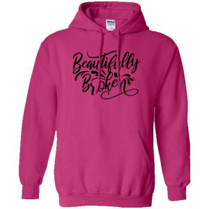beautifully broken heliconia hoodie black design